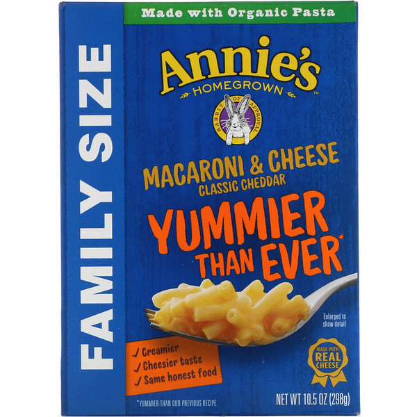 Macaroni & Cheese, Family Size, Classic Cheddar, 10.5 oz (298 g)