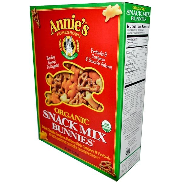 Annie's Homegrown, Органическая закусочная смесь, 9 унц. (255 г)