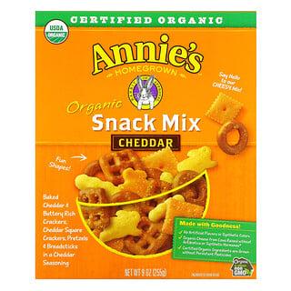 Annie's Homegrown, Organico, lanche mix, Cheddar, 255 g