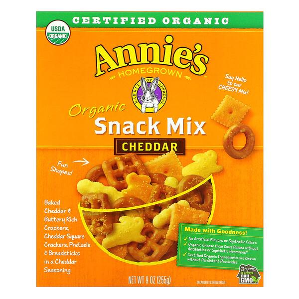 Annie's Homegrown, Organic, Snack Mix, Cheddar, 9 oz (255 g)