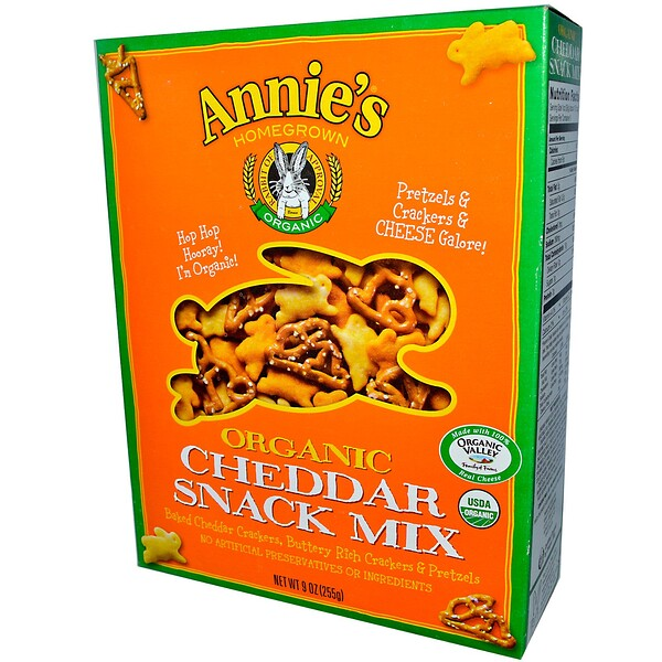 Annie's Homegrown, Organic, Snack Mix, Cheddar, 9 oz (255 g)