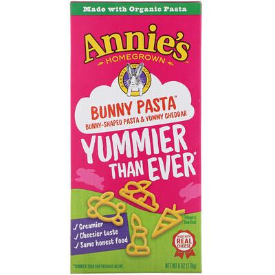 Купить Bunny Pasta, Bunny Shaped Pasta & Yummy Cheddar, 6 oz (170 g)