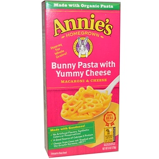 Annie's Homegrown, Macaroni & Cheese, Bunny Pasta with Yummy Cheese, 6 oz (170 g)