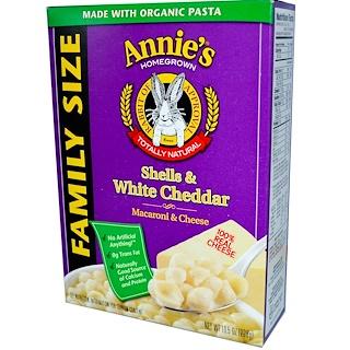 Annie's Homegrown, Macaroni & Cheese, Family Size, Shells & White Cheddar, 10.5 oz (298 g)