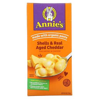 Annie's Homegrown, Macaroni & Cheese, Shells & Real Aged Cheddar, 6 oz (170 g)