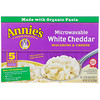 Annie's Homegrown, Organic Microwavable Macaroni & Cheese, White Cheddar, 5 Packets, 2.15 oz (61 g) Each