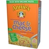 Annie's Homegrown, Microwavable Mac & Cheese, Real Aged Cheddar, 5 Packets, 2.15 oz (61 g) Each