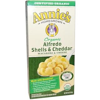 Annie's Homegrown, Macaroni & Cheese, Alfredo Shells & Cheddar, Organic, 6 oz (170 g)