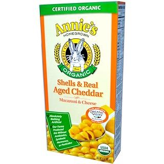 Annie's Homegrown, Macaroni & Cheese, Shells & Real Aged Cheddar, Organic, 6 oz (170 g)