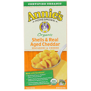 Аннис Хоумгроун, Macaroni & Cheese, Shells & Real Aged Cheddar, Organic, 6 oz (170 g) отзывы