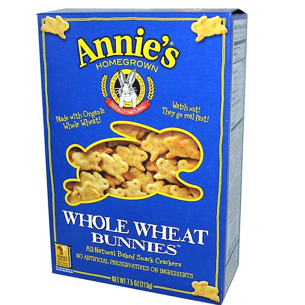 Annie's Homegrown, Whole Wheat Bunnies, 7.5 oz (213 g) (Discontinued Item)