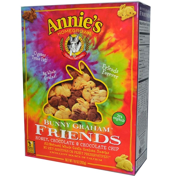 Annie's Homegrown, Bunny Graham, Friends, Honey, Chocolate & Chocolate Chip, 10 oz (283 g) (Discontinued Item)