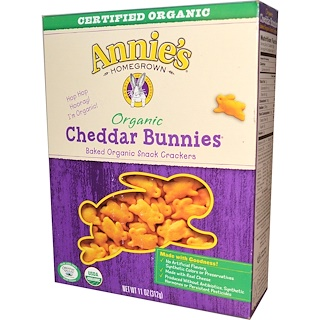 Annie's Homegrown, Organic, Cheddar Bunnies, Baked Snack Crackers, 11 oz (312 g)