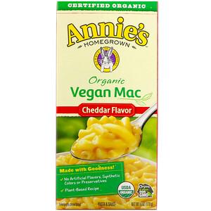 Аннис Хоумгроун, Organic Vegan Mac, Cheddar Flavor, 6 oz (170 g) отзывы покупателей