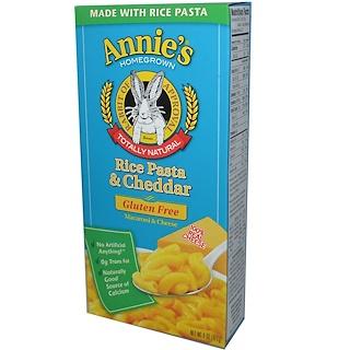 Annie's Homegrown, شعرية الأرز وجبن شيدر، مكرونة وجبن خالية من الغلوتين، 6 أُونْصَة (170 جم)