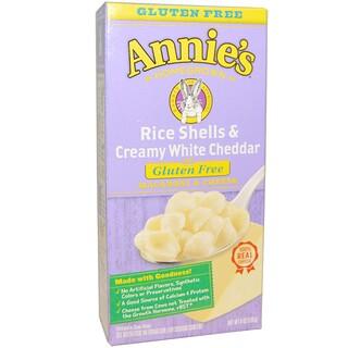 Annie's Homegrown, قشور الأرز وجبن الشيدر الأبيض الدسم، المكرونة والجبن، 6 أونصة(170 جم)