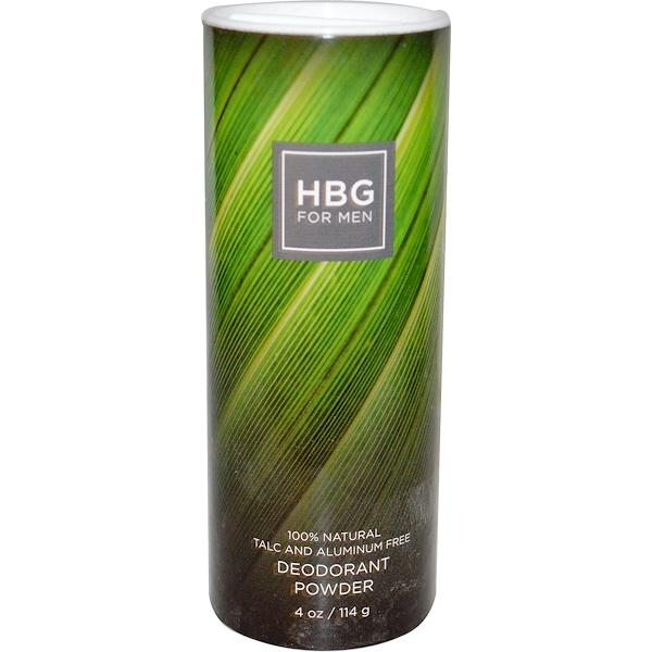 Honeybee Gardens, HBG for Men, Deodorant Powder, Unscented, 4 oz (114 g) (Discontinued Item)