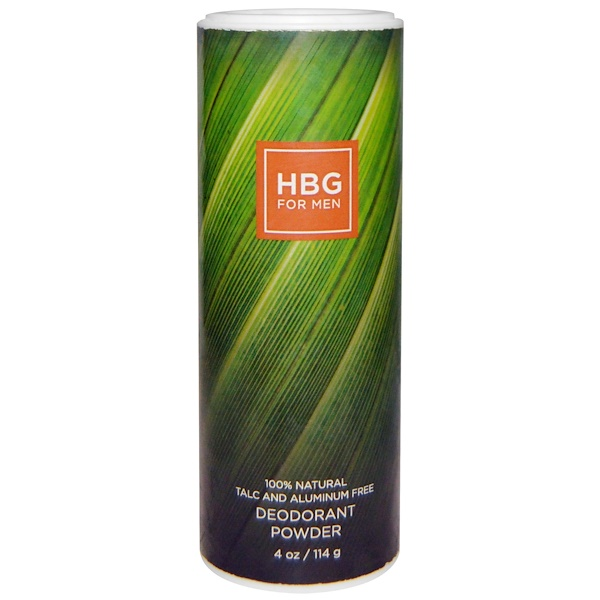 Honeybee Gardens, HBG for Men, Deodorant Powder, Bay Rum, 4 oz (114 g) (Discontinued Item)