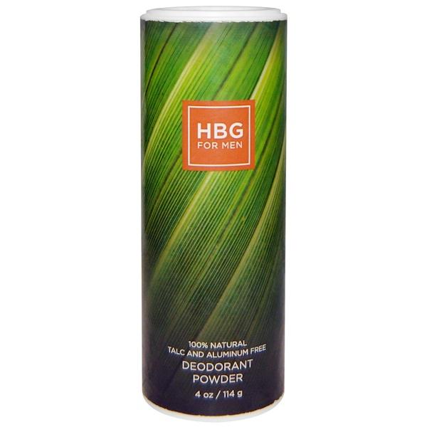 Honeybee Gardens, 男性體香劑粉,4盎司,114克