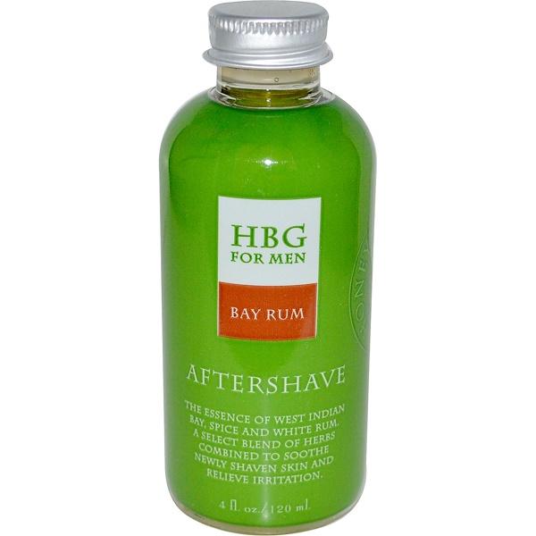 Honeybee Gardens, HBG for Men, Aftershave, Bay Rum, 4 fl oz (120 ml) (Discontinued Item)