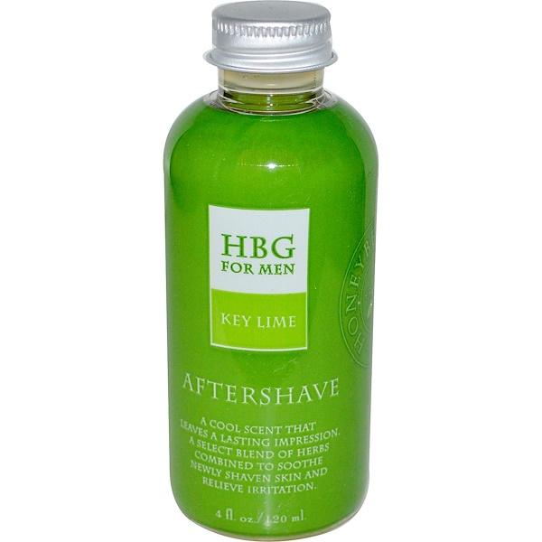 Honeybee Gardens, HBG for Men, Aftershave, Key Lime, 4 fl oz (120 ml) (Discontinued Item)