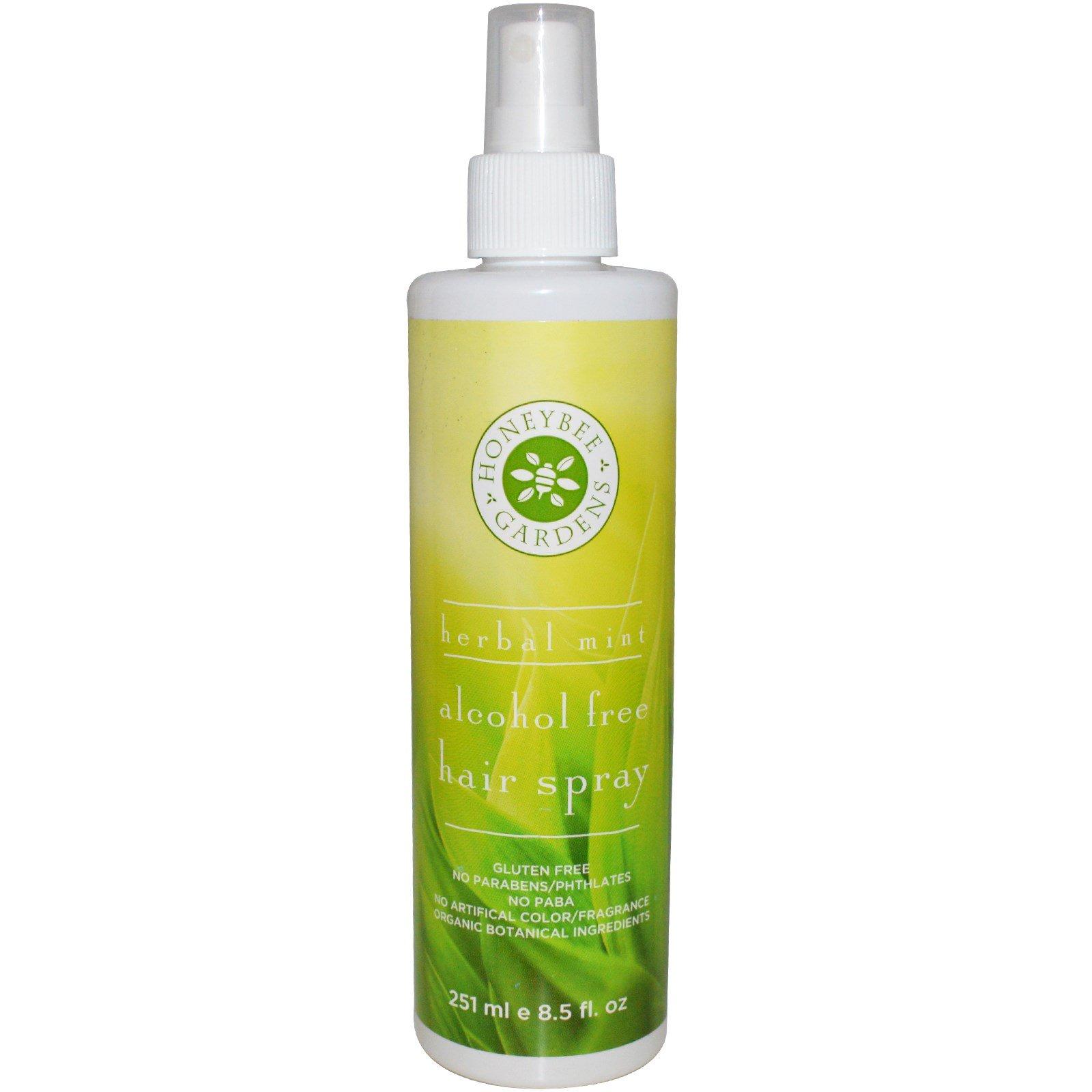Honeybee Gardens, Спрей для волос без спирта с травяным ароматом мяты, 251 мл