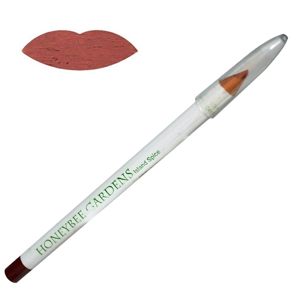 Honeybee Gardens, JobaColors Lip Liner, Island Spice, .04 oz (1 g) (Discontinued Item)