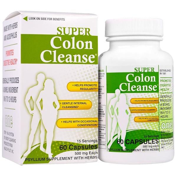 Health Plus Inc., Super Colon Cleanse, 500 mg, 60 Capsules