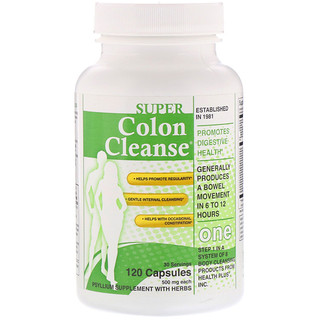 Health Plus, Super Colon Cleanse, 500 mg, 120 Capsules