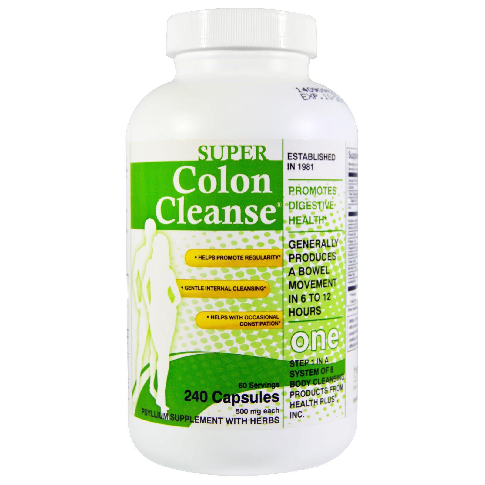 health plus inc super colon cleanse 500 mg 240 capsules. Black Bedroom Furniture Sets. Home Design Ideas