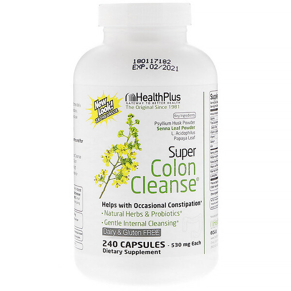 Health Plus Inc、, Super Colon Cleanse,500毫克,240粒膠囊