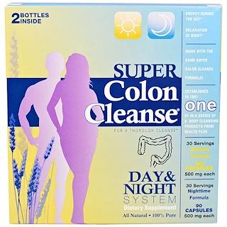 Health Plus Inc., Super Colon Cleanse, Day & Night System, 2 Bottle Kit