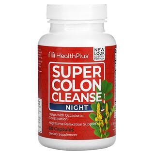 Health Plus, Super Colon Cleanse, Night, 60 Capsules
