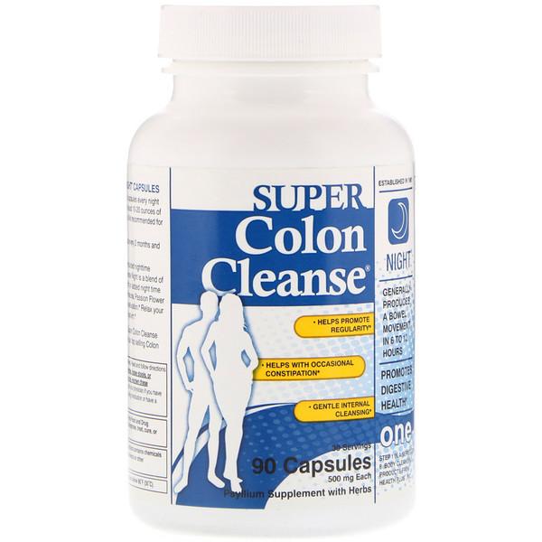 Health Plus, Super Purga del Colon, Noche, 90 Cápsulas
