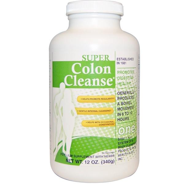 Health Plus Inc., Super Colon Cleanse, One, 12 oz (340 g)