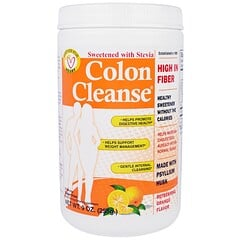 """Health Plus, """"Чистка кишечника"""", средство для чистки толстого кишечника, с освежающим апельсиновым вкусом, 9 унций (255 г)"""