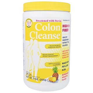 Health Plus, Colon Cleanse, Sweetened with Stevia, Refreshing Pineapple Flavor, 9 oz (255 g)