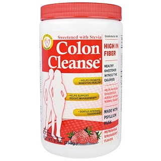 Health Plus, Colon Cleanse, Sweetened with Stevia, Refreshing Strawberry Flavor, 9 oz (255 g)