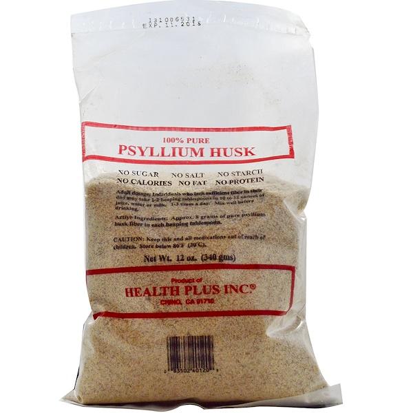 Health Plus, Psyllium Husk, 12 oz (340 g) (Discontinued Item)