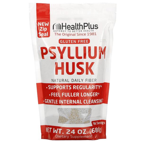 Health Plus, 100% Pure Psyllium Husk, 1.5 lbs (680 g)