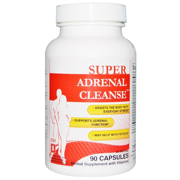 Health Plus, Super Adrenal Cleanse, Step 5, 90 Capsules
