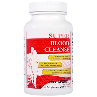 Health Plus Inc., Super Blood Cleanse, 753 mg, 90 Capsules