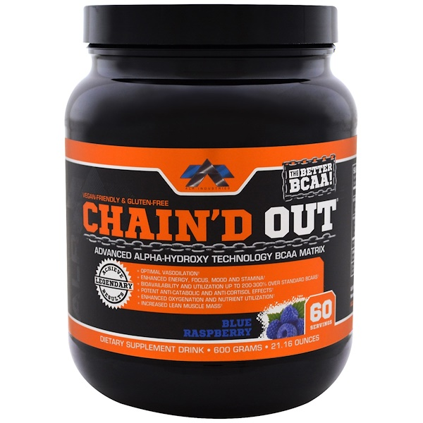 ALR Industries, Chain'D Out BCAA Matrix, توت بري أزرق, 21.16 أونصة (600 غ)