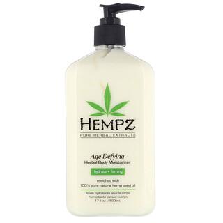 Hempz, Age Defying Herbal Body Moisturizer, Hydrate + Firming, 17 fl oz (500 ml)