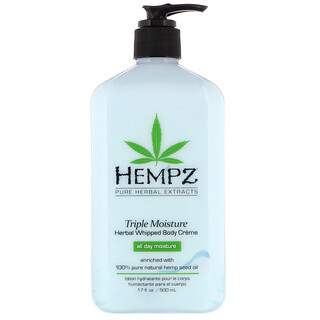 Hempz, Triple Moisture Herbal Whipped Body Creme, 17 fl oz (500 ml