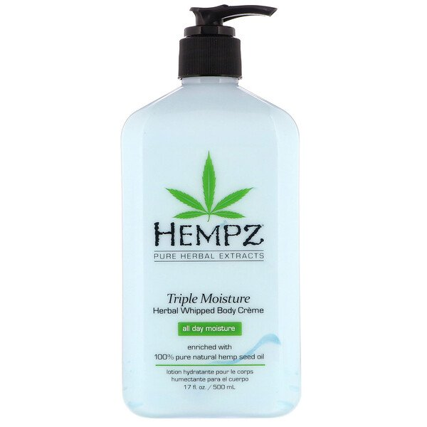 Hempz, Triple Moisture Herbal Whipped Body Creme, 17 fl oz (500 ml