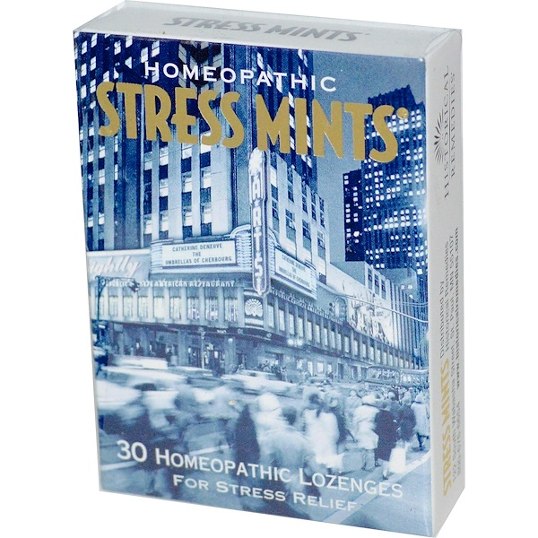 Historical Remedies, Stress Mints, 30 Homeopathic Lozenges