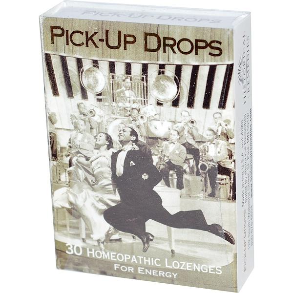Historical Remedies, Pick-Up Drops, для заряда энергии, 30 гомеопатических пастилок