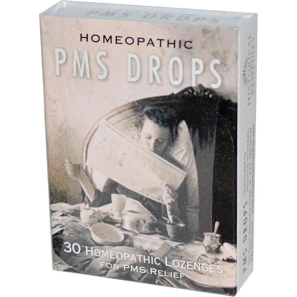 Historical Remedies, PMS ドロップ、 30ホメオパシーロゼンジ