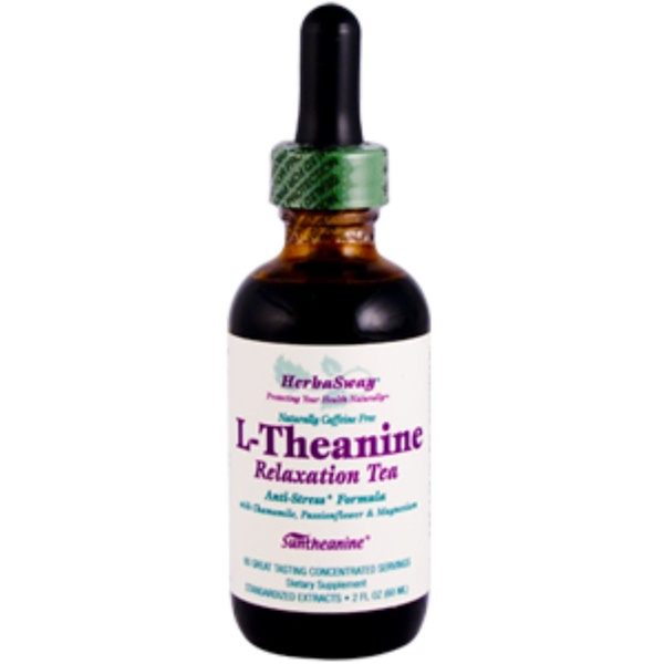 HerbaSway Labs, L-Theanine, Relaxation Tea, 2 fl oz (60 ml) (Discontinued Item)